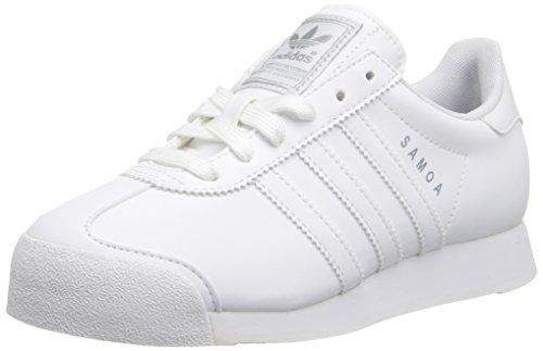 adidas Originals Samoa Sneaker (Little Kid/Big Kid), White/White/Light Grey, 1.5 M US Little Kid