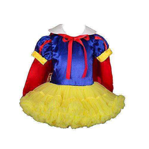 Lito Angels Ragazzine Principessa Bianco Come la Neve Tutu Dance Costume Vestito da Festa Fantasia w/ Cape Taglia 9-12 Mesi