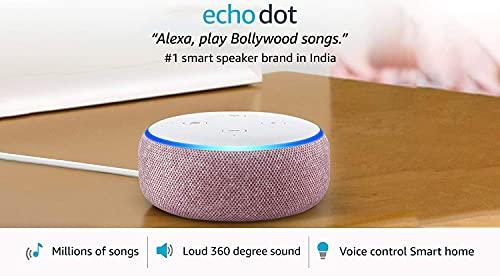 Echo Dot (3rd Gen) - #1 smart speaker brand in India with Alexa (Purple)