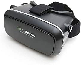Meckwell VRSHINECON 6.0 VR Headset Version Virtual Reality Glasses Stereo Headphones 3D Glasses Headset Helmets Support 4.7-6.0 inch Large Screen Smartphone (with Controller SC-B01)