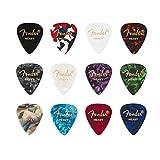 """Fender© """"351 Medley"""" Plettri in celluloide per Chitarra e Basso - Colori vari - Heavy - Set di 12"""
