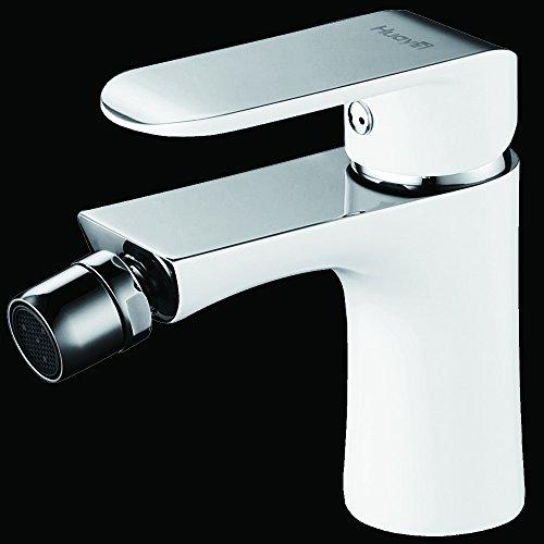 LUX–Aqua wdg46431jw Design bidet rubinetto badarmatur–Miscelatore per bidet EINB da corsa vernice in bianco, cromo e bianco