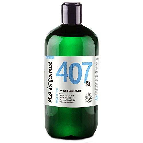 Naissance Savon de Castille Liquide BIO (n° 407), naturel et sans parfum - 500ml - végan, sans SLS ni SLES