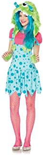 Women's One-Eyed Erin Suspender Dress And Monster Hood with Pom Pom Ties
