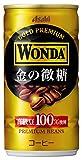 アサヒ飲料 ワンダ 金の微糖 185g×30本