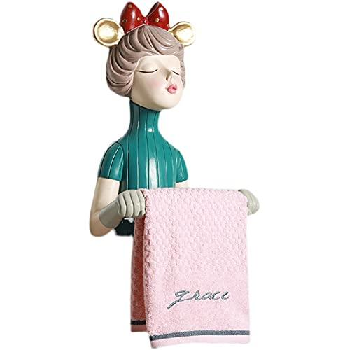 Cakunmik Tierkopf Katze Hängende Wand Papierhandtuchhalter/Stanzen Free Box Taschentücher Toilettenpapier Bad Rollenpapier Rohre Aus Unterstützung,A