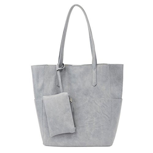 Joy Susan Women's 3-in-1 North South Bella Tote Bag, Light Denim, One Size