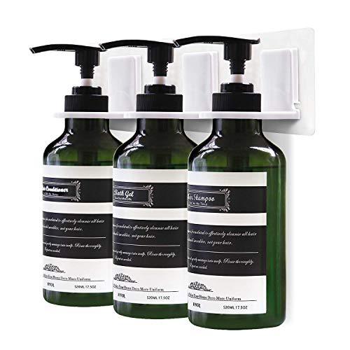 Frylr 3 Stück 520ml Seifenspender zur Wandbefestigung - Spülmittelspender FlüssigseifenSpender für Küche Bad, Hält Ohne Bohren