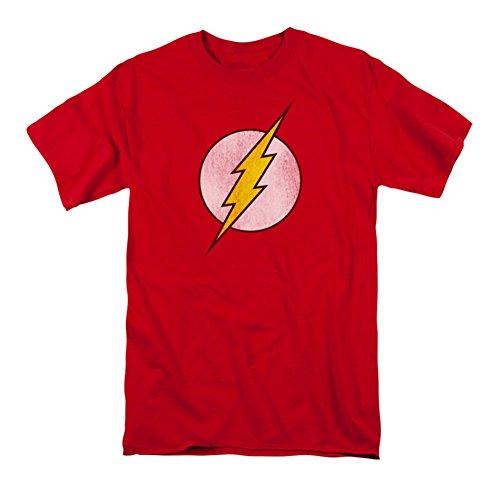 Playera de DC Comics con el logo de Flash, M, Rojo