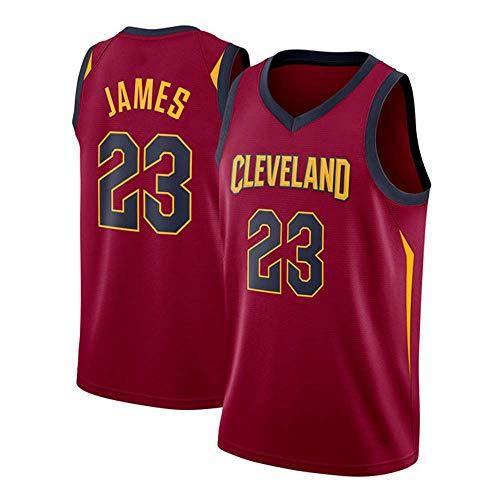 Trikot - Cleveland Cavaliers 23# Lebron James Basketball-Trikots für Männer und Frauen Retro-Trikots Coole atmungsaktive Stoffe,Rot,S:170cm/50~65kg