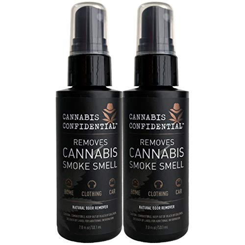 Cannabis Confidential—Instantly REMOVES Cannabis/Marijuana/Weed/Pot Odor Smell, Natural Neutralizer/Remover for Hands, Hair, Home, Rooms, Clothing, and Car, 2-Pack