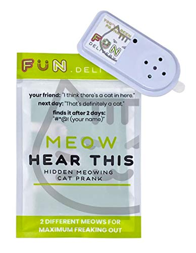 FUN delivery Meow Hear This: Hidden Meowing Cat Prank Gag Joke Sound