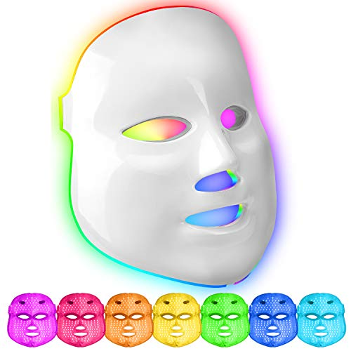 Maschera a LED 7 colori fototerapia della pelle...