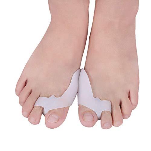 PEDIMEND Protection de gros orteils en silicone pour orteils martelés - Protections d'oignon avec séparateurs d'orteils - Séparateurs d'orteils pour les oignons - Unisexe - Soins des pieds