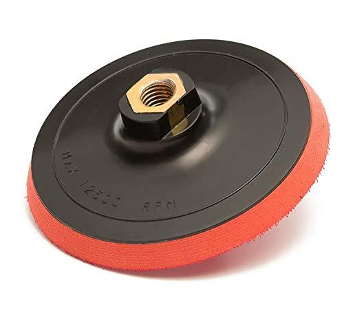 GP12604 Hook and Loop Rotary Backing Pad with 5/8''-11 Thread, Sanding, Polishing Backer/Diameter 4.5 inch