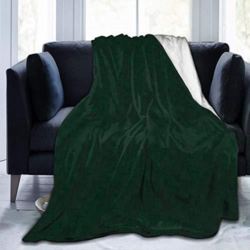 NOBRAND Manta De La Siesta Felpa Sofás Franela Verde Oscuro con Textura Buen sueño L127cm x W102cm