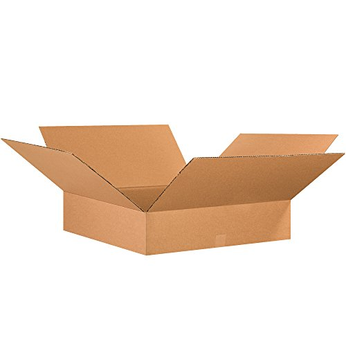 BOX USA B26266 플랫 골판지 상자 26L X 26W X 6H 크래프트(PACK OF 10)