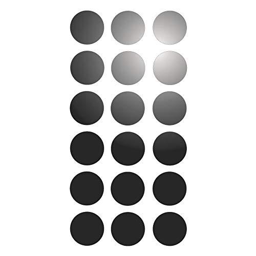 18 Pastilles Adhésives Réfléchissantes pour Signalisation 3 cm Rouge Réfléchissant