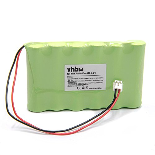vhbw Akku passend für Compex Muskelstimulator Geräte (alte Generation) - Ersetzt Compex 032002690, 018004913 - (NiMH, 1500mAh, 7.2V) Accu, Ersatzakku