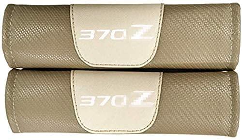 2 piezas de almohadillas para el hombro de la cubierta del cinturón de seguridad, para Nissan 370z, hombreras de fibra de carbono que protegen los accesorios interiores del coche