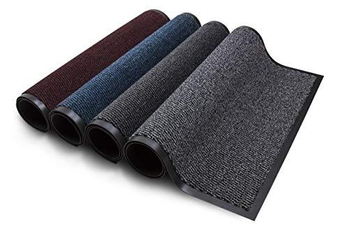 Carpet Diem Rio Schmutzfangmatte - 5 Größen - 10 Farben Fußmatte mit äußerst starker Schmutz und Feuchtigkeitsaufnahme - Sauberlaufmatte in dunkel grau - anthrazit - schwarz 80 x 120 cm