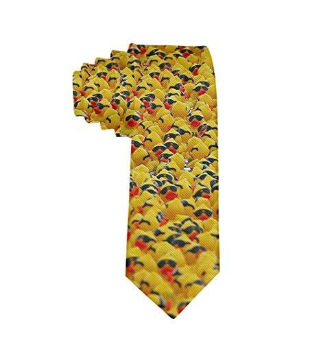 Corbatas para hombres Divertido Puro Natural Lindo Patito amarillo de goma con gafas de sol Corbata Fiesta Fecha de negocios Boda Corbatas formales Corbata elegante