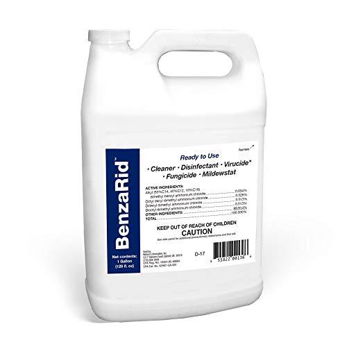 BenzaRid Hospital Grade Disinfectant (1 Gallon)   Professional Sanitizer & Vircucide, Kills MRSA, H1N1, H5N1 Viruses, Avian Flu, Staph, Mites and Blood Born Pathogens   Black Mold Killer, Fungicide