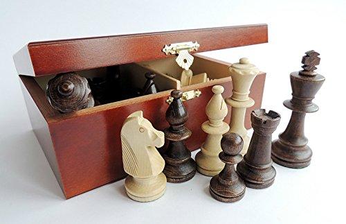 Master of Chess Professional Staunton Piezas de ajedrez de madera ponderadas (Staunton n. ° 5 en caja de caoba)
