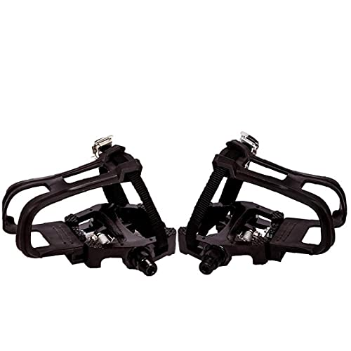 Liadance Toe Clips for Bike Pedals Pedal with Toe Clip Straps Aluminum Alloy for Spin Indoor Exercise Bikes Black 1 Pair