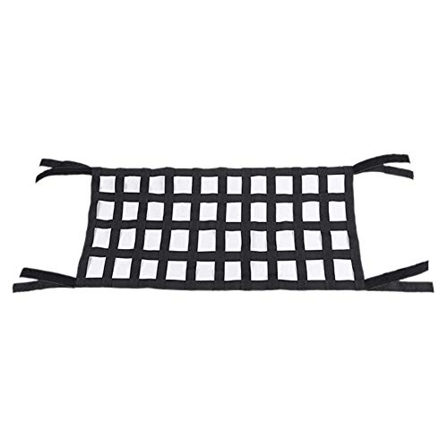 FANGLIANG Black Oxford Cloth Multifunctional Magic Sticker Roof Storage Hammock Roof Protection Net 4X10 Mesh Suitable Fit For Jeep Wrangler