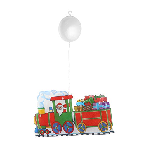 STOBOK Natal 3D Luz Suspensa Com Ventosa Xmas Trem Levou Novidade Cortina de Lâmpada Luz Ambiente para Ãrvore de Férias Janela Interna Caminho Pátio Decoração de Quarto