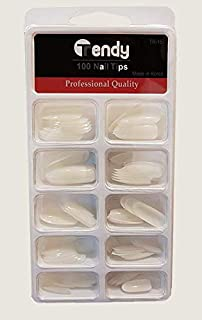 Trendy Artificial nails set 100 Piece, white