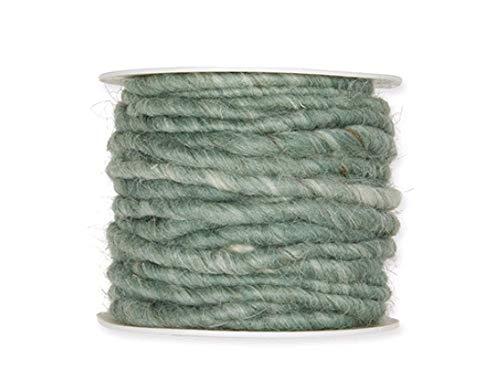 DIY basteln Tisch-Deko Woll-Schnur Filz-Schnur Ø:5mm salbei-grün (127) 10m