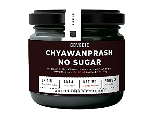 Govedic Chyawanprash | No Sugar | Traditional Indian Herbal Jam Made with Select Herbs and Spices in a Gooseberry Base