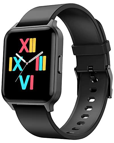 Deeprio Fitness Tracker Uomo Smartwatch Donna Ragazzi con 1.52  Full Touch, Impermeabile IP68, Orologio Uomo Sportivo Cardiofrequenzimetro da Polso Android iOS (Vidaa, nero)