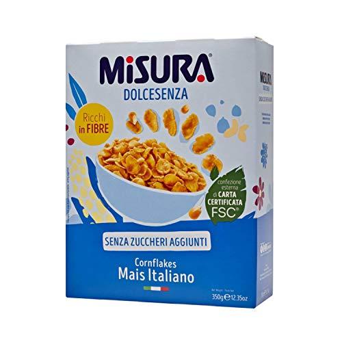 Misura Cornflakes Dolcesenza | Mais Italiano | Senza Zuccheri Aggiunti | Confezione da 350 gr