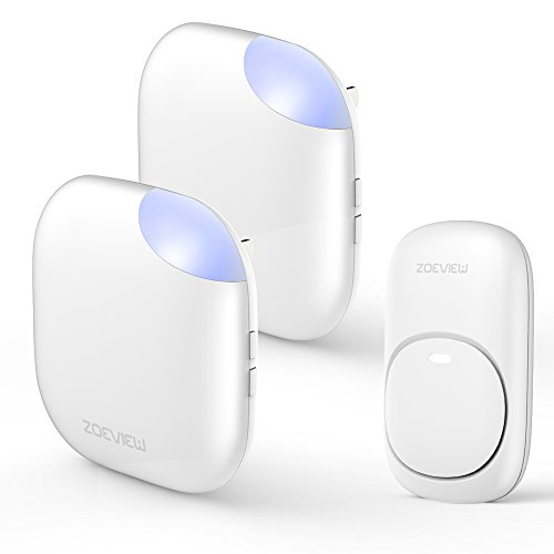 Wireless Doorbell, zoeview Door Chime Kit 1000 Feet Operating Range, 38 Chimes, 3 Level Volume and...