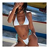 MASHUANG Llamativo Bikini Sexy de Cintura Alta de Encaje, Traje de baño de 2 Piezas de Malla de Mujer, Tapa de triángulo Acolchado, Mini Tanga Abajo, 2021 diseño De Moda