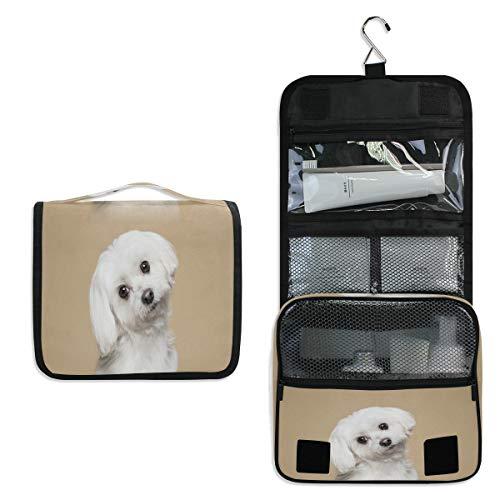 Funnyy Trousse de toilette à suspendre pour chien, chiot, trousse de toilette de voyage, trousse de maquillage, accessoires de beauté, trousse pour femme, fille, enfants, sac de douche étanche
