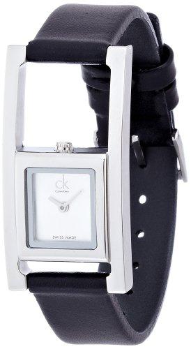 Calvin Klein Reloj Analógico para Mujer de Cuarzo con Correa en Cuero K4H431C6