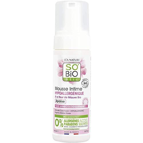SO'BIO ÉTIC Mousse Intime Hypoallergénique² à la Fleur de Mauve - 150 ml