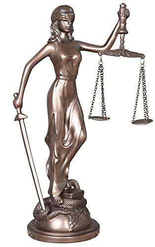 Frauenfigur Justitia Skulptur mit Waage & Schwert Jugendstil Figur Gerechtigkeit is260 Palazzo Exklusiv