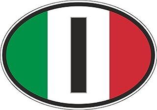 Akachafactory Stickers, ovaal, voor auto/motorfiets I Italiaanse vlag