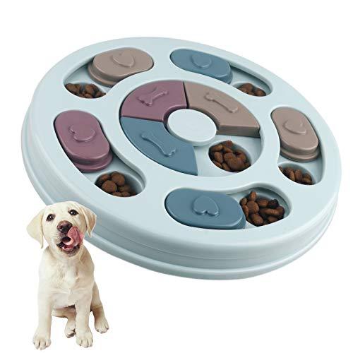 Elezenioc Giocattolo Intelligente per Cani,Giocattoli Cibo per Cani Che Mangiano Lentamente, Giocattolo Puzzle Antiscivolo per Cani, Cuccioli e Gatti