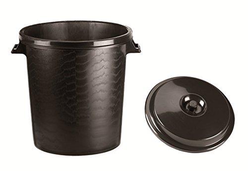WOLFPACK LINEA PROFESIONAL 10010041 Cubo Basura Plastico Comunidad Con Tapa 50 Litros