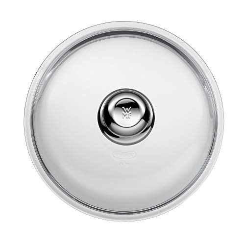 WMF Glas-Pfannendeckel 24 cm, Deckel für 24er Pfannen, Deckel mit Metallknauf, hitzebeständiges Glas, spülmaschinengeeignet