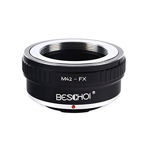Beschoi M42-FX Objektiv Adapter Ring für M42 42mm Objektiv auf Fujifilm FX Kamera