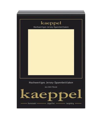 Kaeppel L-016753-06L3-U5KN Jersey Spannbettlaken 200 x 200 cm, vanille