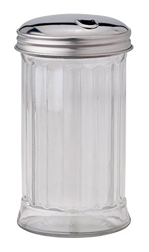 HIC Classic Diner Style Sugar Dispenser for Coffee and Tea, Glass, 11-ounce
