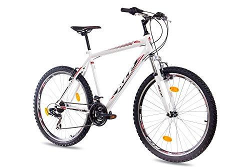 KCP 26 Zoll Mountainbike Hardtail - MTB ONE schwarz - Mountain Bike mit 21 Gang Shimano Tourney Kettenschaltung - MTB Fahrrad für Herren und Damen mit Federgabel
